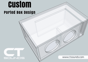 Custom Ported Subwoofer Box Design Box Designs- CT Sounds Car Audio