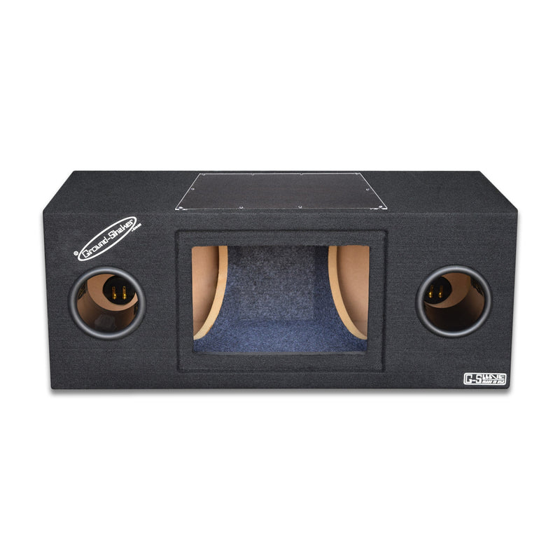 "Black 10"" Dual Bandpass Sub Box Subwoofer Box- CT Sounds Car Audio"