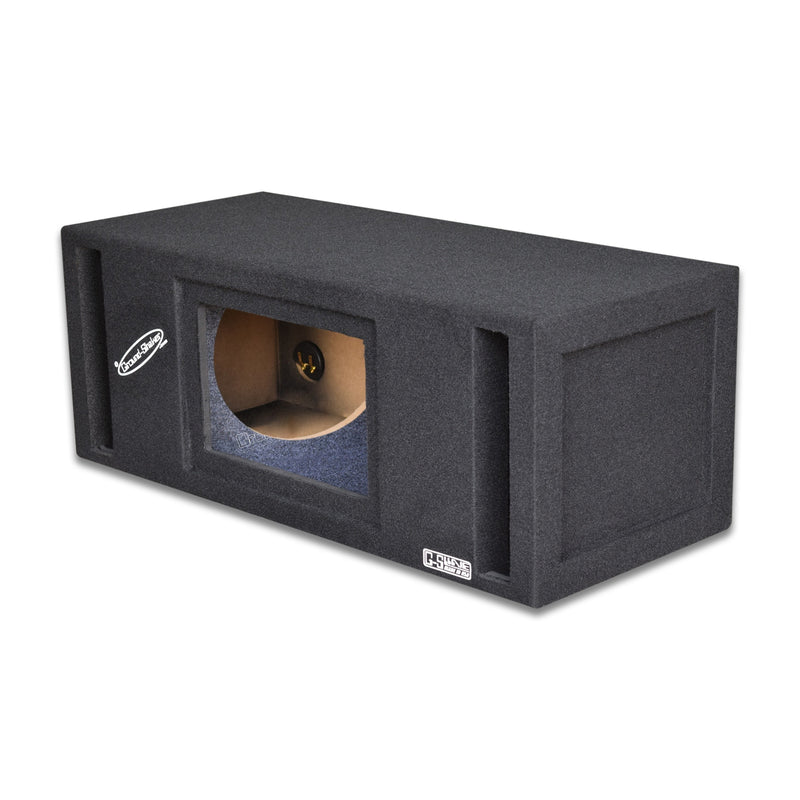 Dual 10 Inch Slot Ported Bandpass Box Subwoofer Box- CT Sounds Car Audio