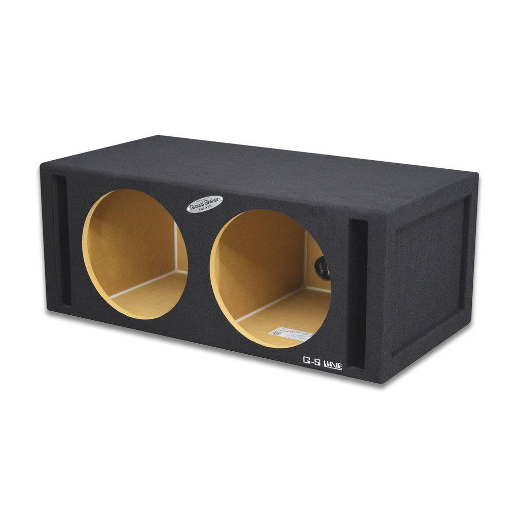 Dual 12 Inch 35 Hz Enclosure Ported Subwoofer Box with Dual Ports