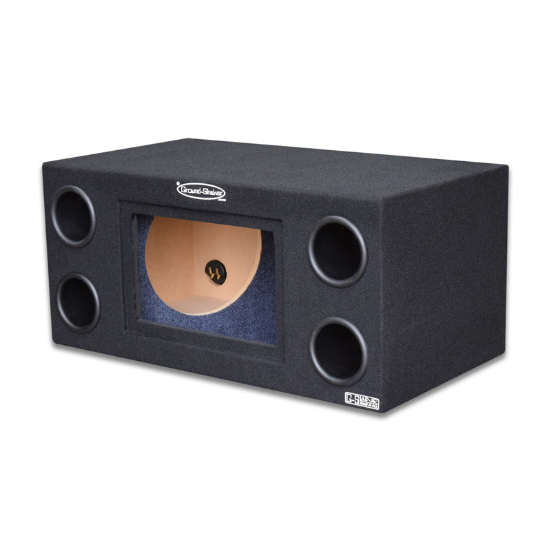 "Black 12"" Dual Bandpass Sub Box 12 Inch Subwoofer Box- CT Sounds Car Audio"