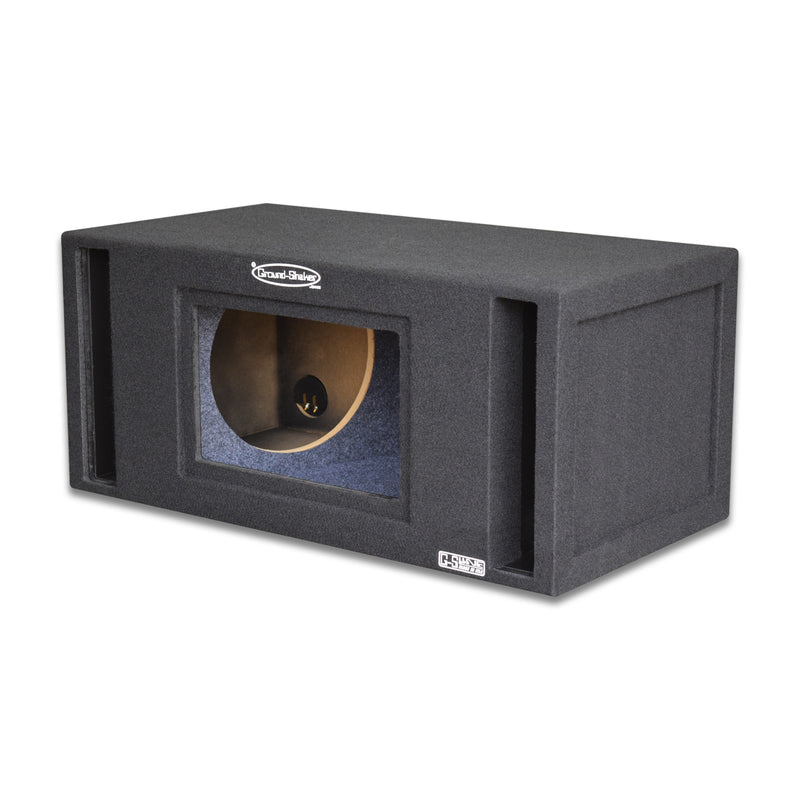 "Black 12"" Dual Slot Ported Bandpass Sub Box 12 Inch Subwoofer Box- CT Sounds Car Audio"