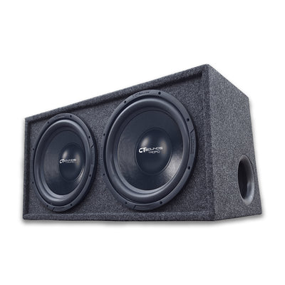 "Dual TROPO 12"" D4s; 1200W RMS; PORTED Bass Package (Factory Tuned & Tested) 09 Bass Package- CT Sounds Car Audio"