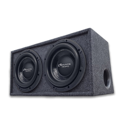 "Dual TROPO 8"" D4s; 800W RMS; PORTED Bass Package (Factory Tuned & Tested) 09 Bass Package- CT Sounds Car Audio"