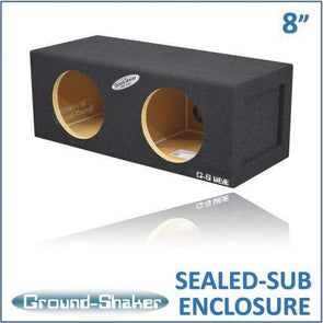 Dual 8 Inch Sealed Mid-Size Box - CT Sounds Car Audio