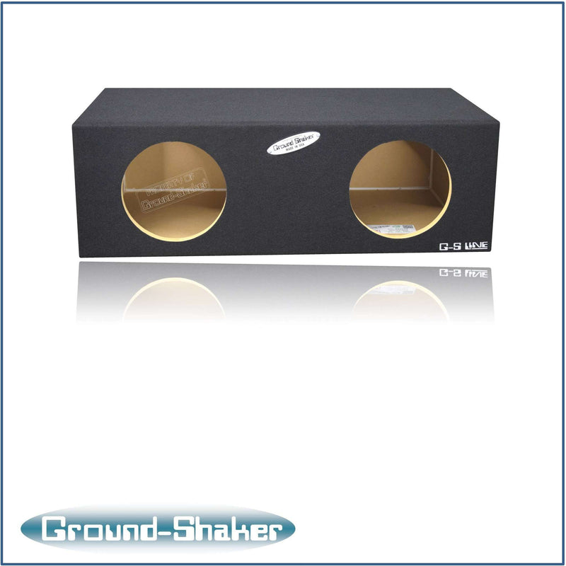 Dual 8 Inch Sealed Box Subwoofer Box- CT Sounds Car Audio
