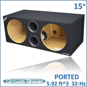 Dual 15-Inch Dual Aero Ported SPL Subwoofer Enclosure Subwoofer Box- CT Sounds Car Audio