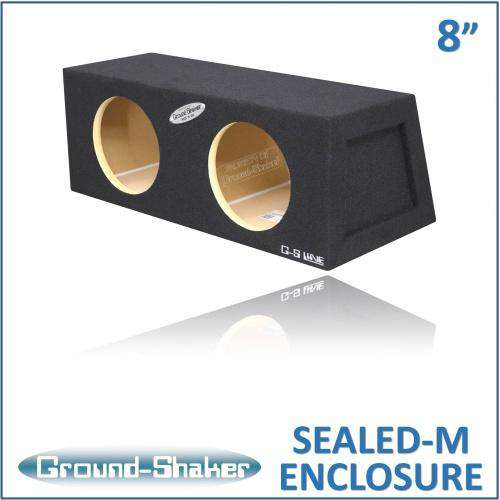 Dual 8 Inch Sealed Hatchback Box - CT Sounds Car Audio