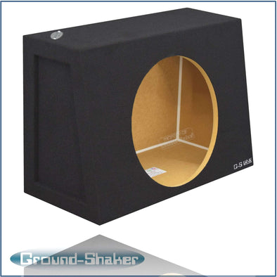 "Black 15"" Single Sealed Sub Box, Fits Regular Cab Trucks - CT Sounds Car Audio"