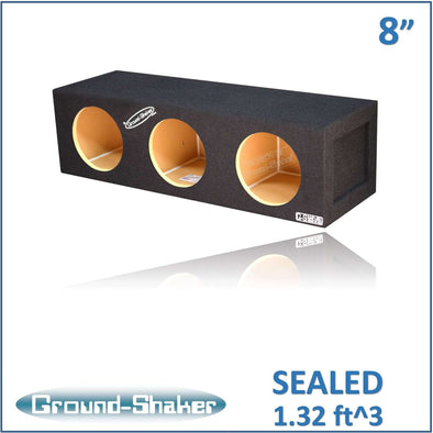 "Black 8"" Triple Sealed Sub Box - CT SOUNDS"