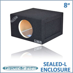 Single 8 Inch Sealed Box Subwoofer Box- CT Sounds Car Audio