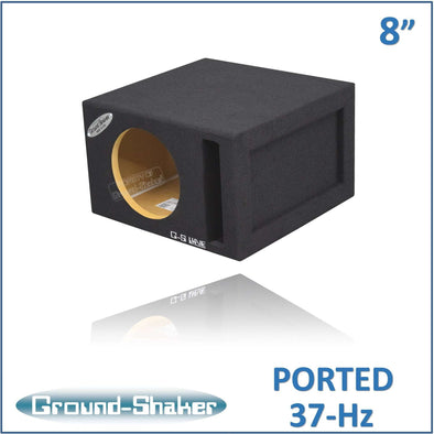 "Black 8"" Single Ported Sub Box - CT SOUNDS"