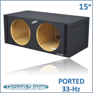 Dual 15-Inch Dual Side Slot Vented Subwoofer Enclosure - CT SOUNDS