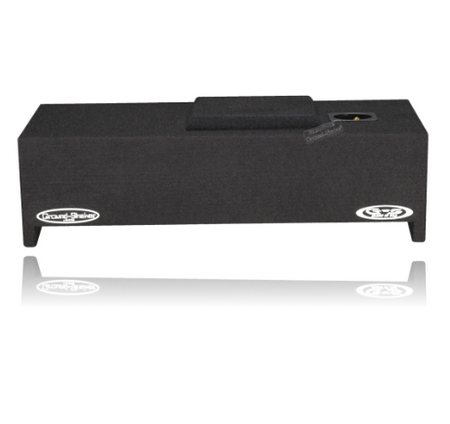 "BLACK 10"" SINGLE SEALED SUB BOX, FITS FORD F-150 CREW-CAB 2009-2019 Subwoofer Box- CT Sounds Car Audio"