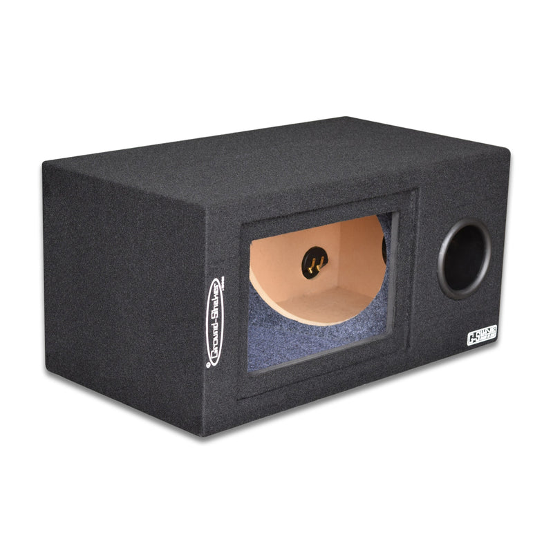 "Black 10"" Single Bandpass Sub Box Subwoofer Box- CT Sounds Car Audio"