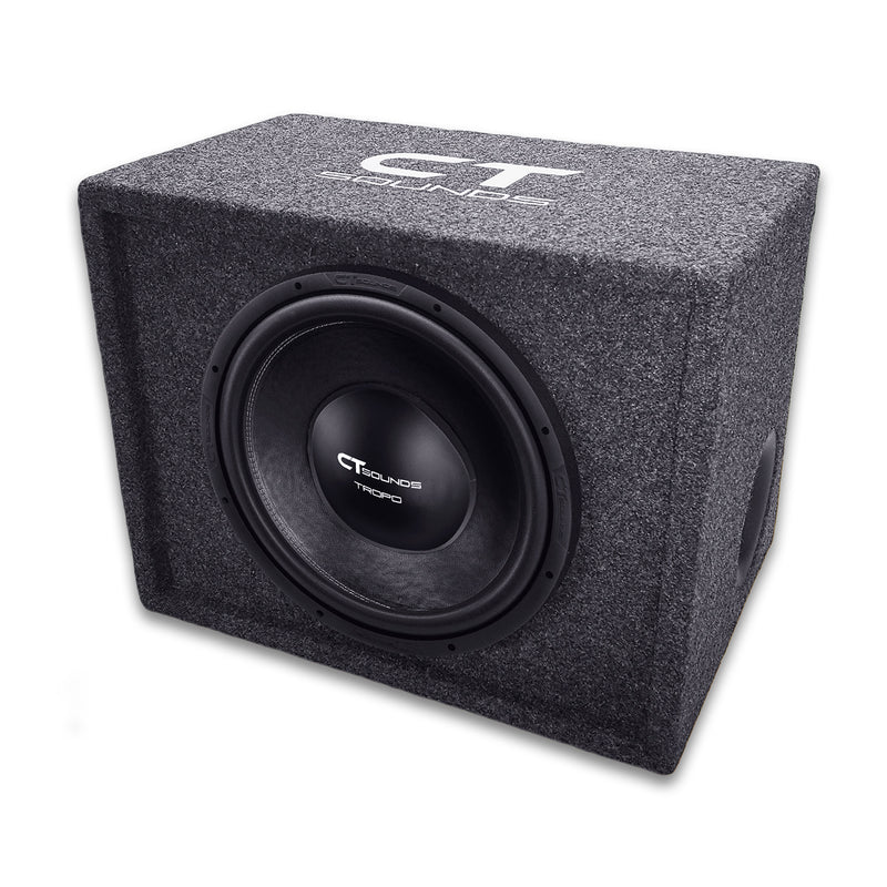 "Single TROPO 12"" D2; 600W RMS; PORTED Bass Package (Factory Tuned & Tested) Bass Packages- CT Sounds Car Audio"