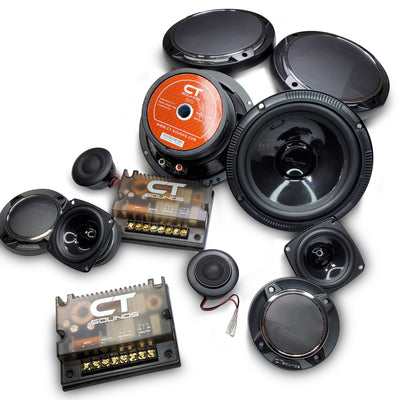 Strato 6.5 Inch 3-Way Component Set Speakers- CT Sounds Car Audio