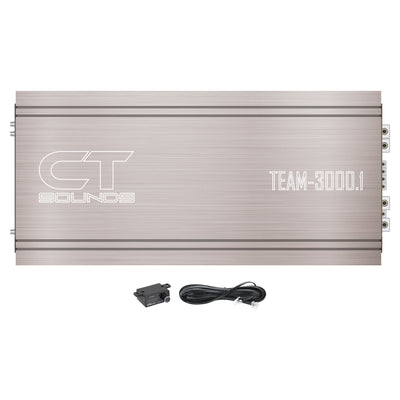 TEAM-3000.1D // 3700 Watts RMS Monoblock Car Audio Amplifier - CT SOUNDS