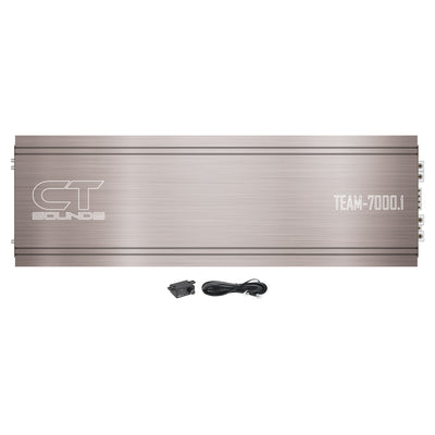 TEAM-7000.1D // 7400 Watts RMS Monoblock Car Audio Amplifier - CT SOUNDS