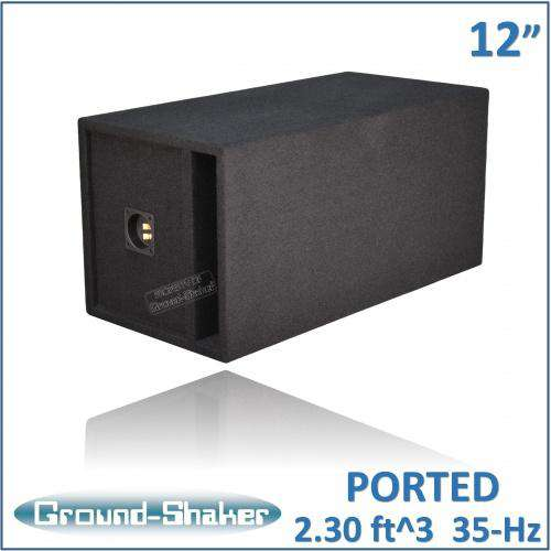 "Black 12"" Single Ported Extra Large Sub Box 12 Inch Subwoofer Box- CT Sounds Car Audio"