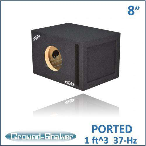 Single 8 Inch Reinforced Ported Box - CT Sounds Car Audio