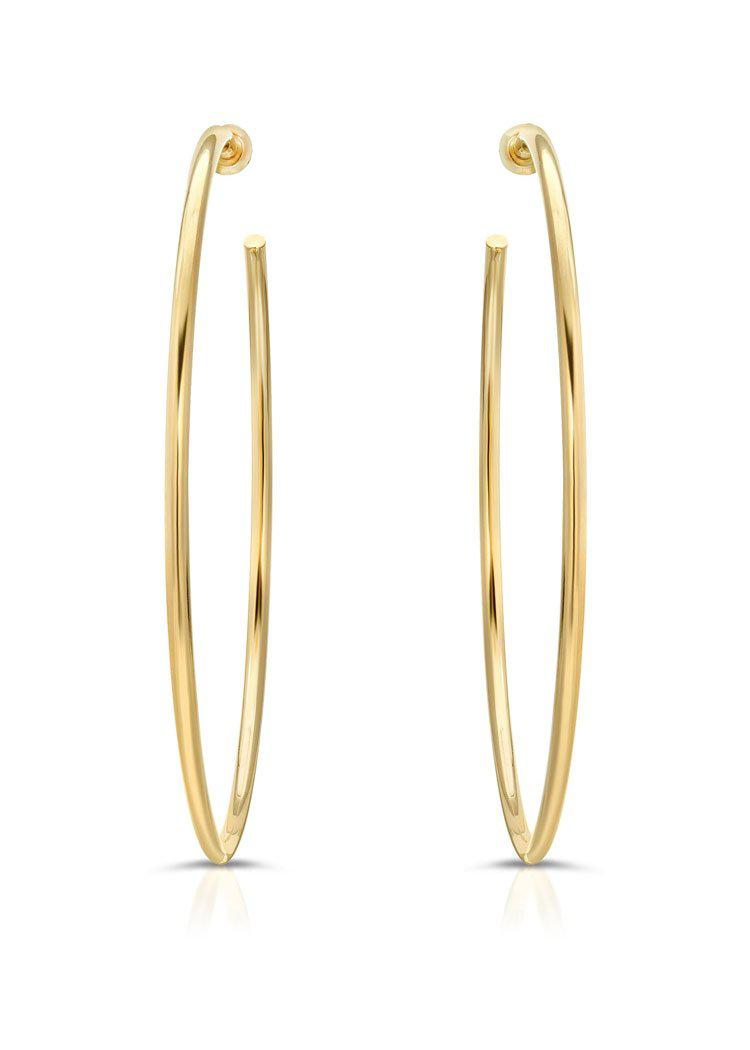 "Eklexic 2.5"" Ultimate Hoops- Gold-Hand In Pocket"