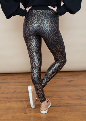 Spanx Faux Leather Leggings - Leopard Shine ***FINAL SALE***-Hand In Pocket
