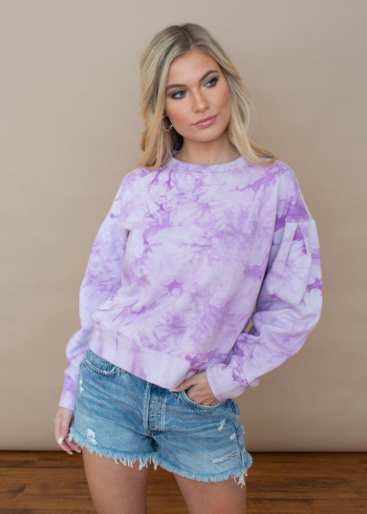 Velvet Heart Roma Tie Dye Sweatshirt-Hand In Pocket