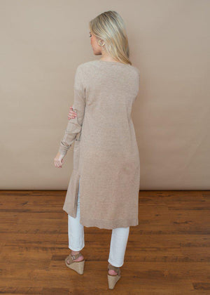 Trapasso Duster- Lightweight Knit Pocketed Cardigan-***FINAL SALE***-Hand In Pocket