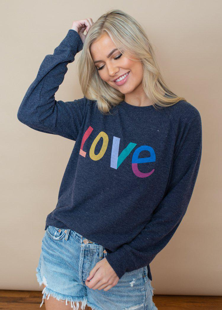 PJ Salvage Lounge Love Crew Neck Sweatshirt ***FINAL SALE***-Hand In Pocket