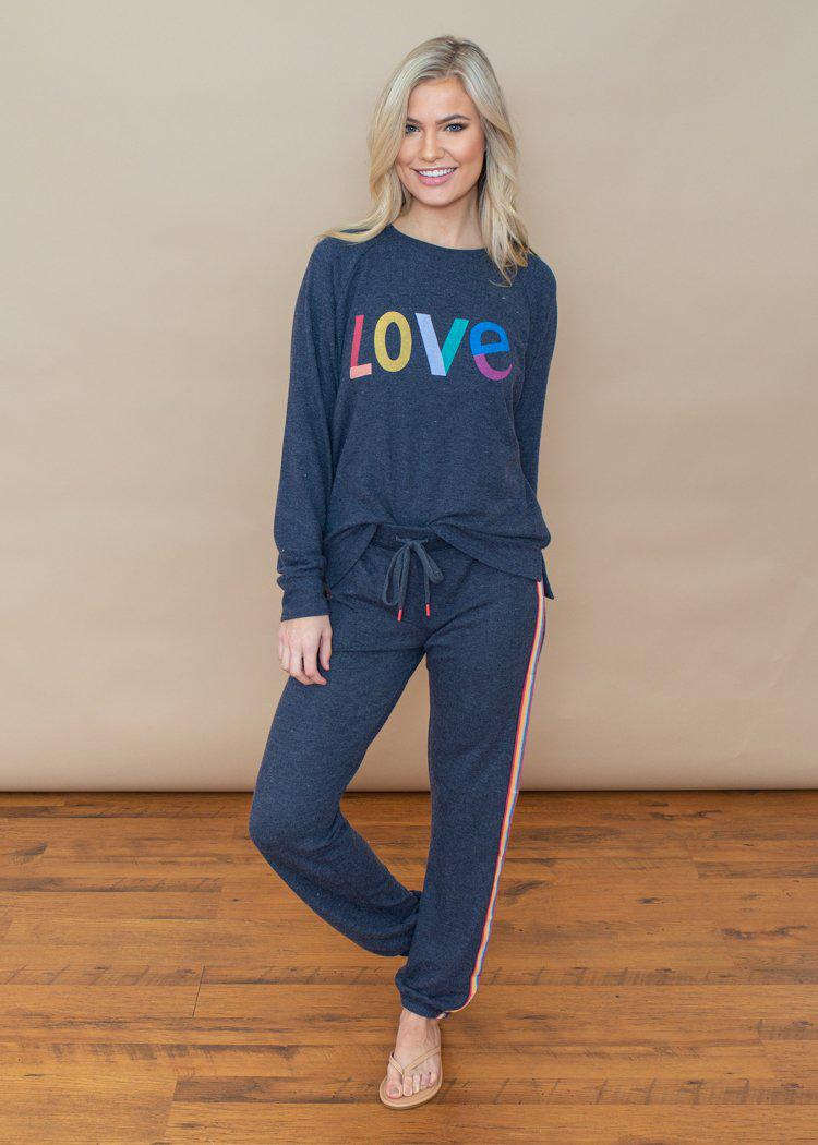 PJ Salvage Lounge Love Crew Neck Sweatshirt