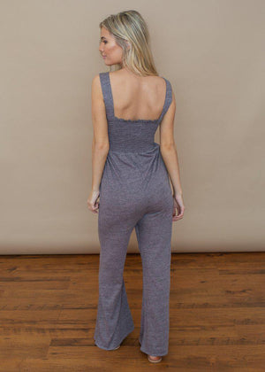 Chaser TriBlend Jersey Jumpsuit-Hand In Pocket