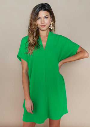 Karlie Green Seville Tunic Dress-Hand In Pocket