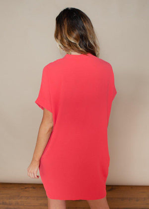 Karlie Bubblegum Seville Tunic Dress-Hand In Pocket