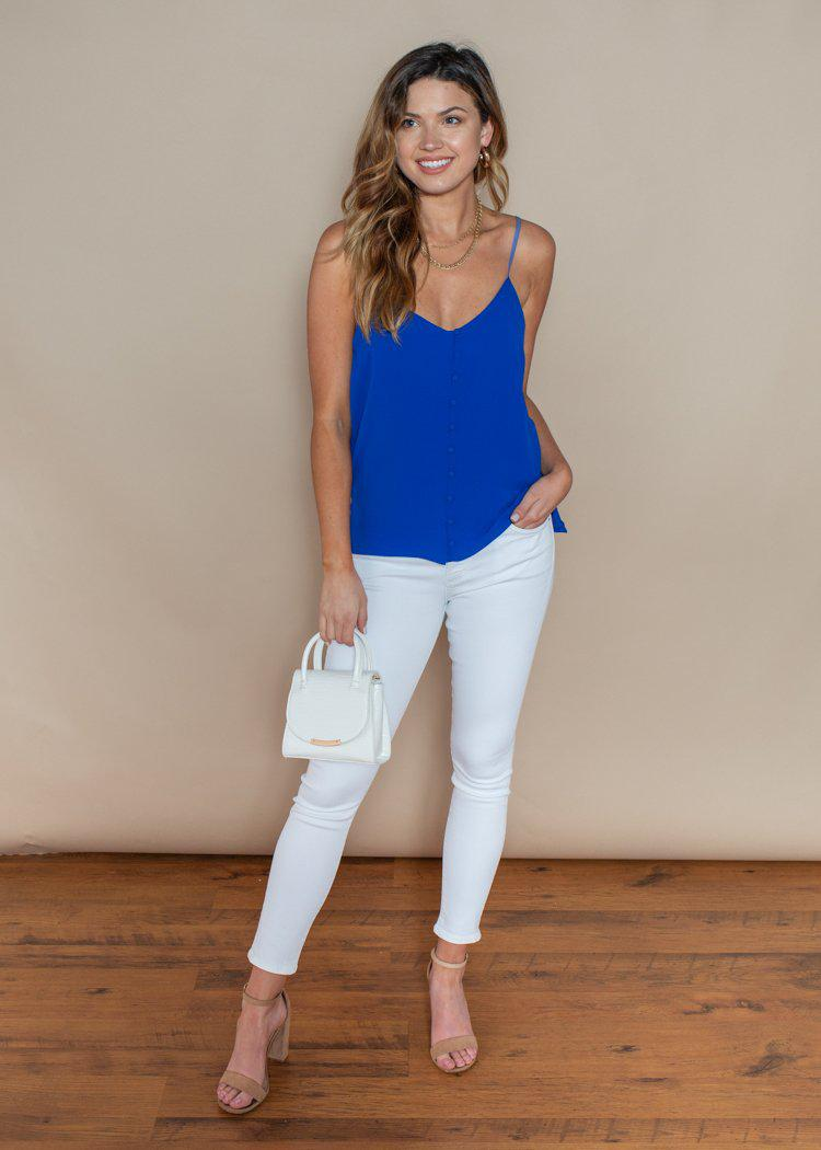 BB Dakota Cobalt Crazy Little Thing Tank Top-Hand In Pocket