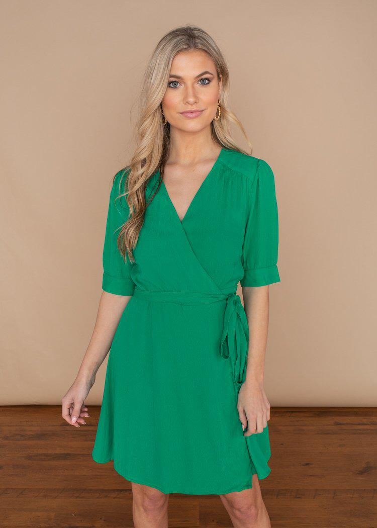 See U Soon Maggy Wrap Dress-***FINAL SALE***-Hand In Pocket