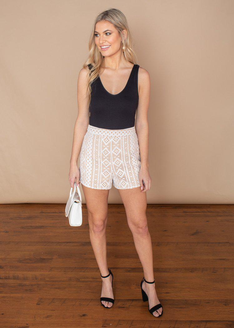 English Factory Crochet Overlay Shorts-***FINAL SALE***-Hand In Pocket
