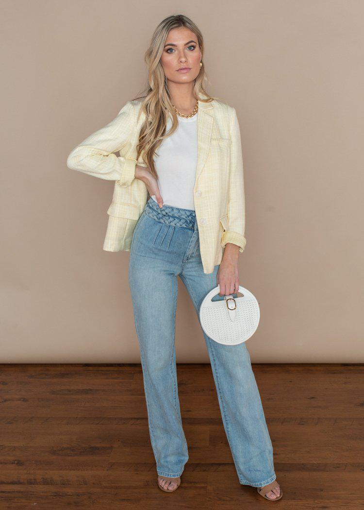 Blank NYC Delancey Double Braided High Waist Flare Leg Jeans-***FINAL SALE****-Hand In Pocket