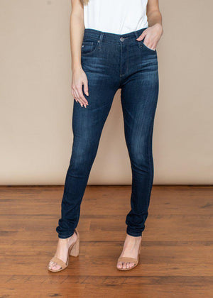 AG Farrah High Rise Skinny Ankle-Brooks-Hand In Pocket