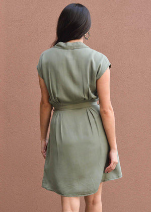 Velvet Heart Mulan Olive Green Tunic Dress ***FINAL SALE***-Hand In Pocket