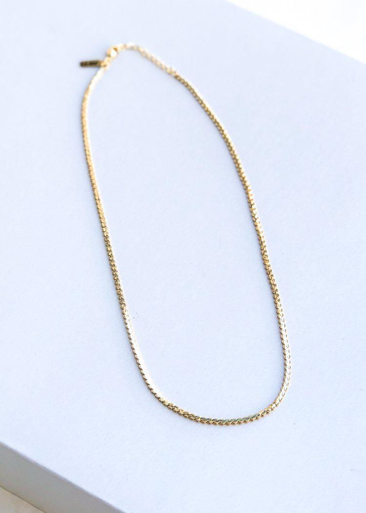 Farrah B Simple Soul Necklace - Gold-Hand In Pocket