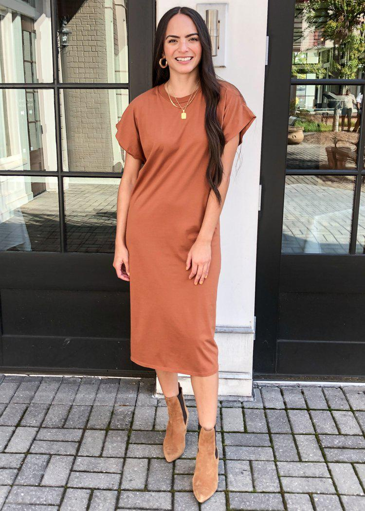 Stateside Maxi T-Shirt Dress ***FINAL SALE***-Hand In Pocket
