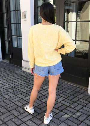 Pj Salvage Flick Of A Brush Long Sleeve Top - Sunshine-Hand In Pocket