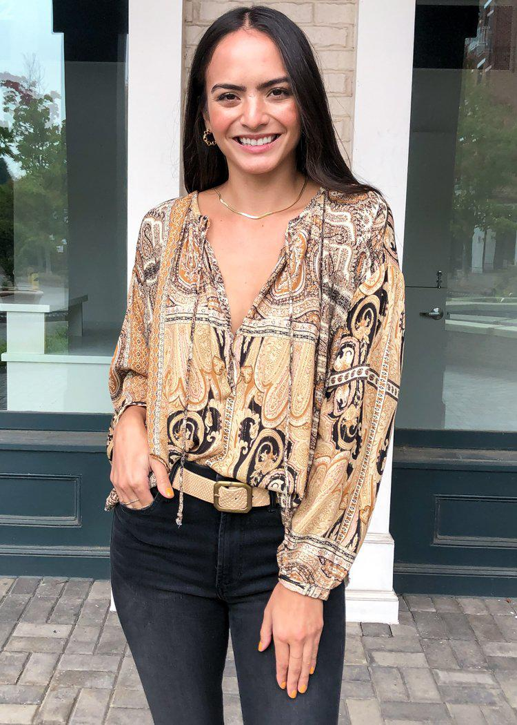 Santa Rosa Peasant Blouse-Hand In Pocket