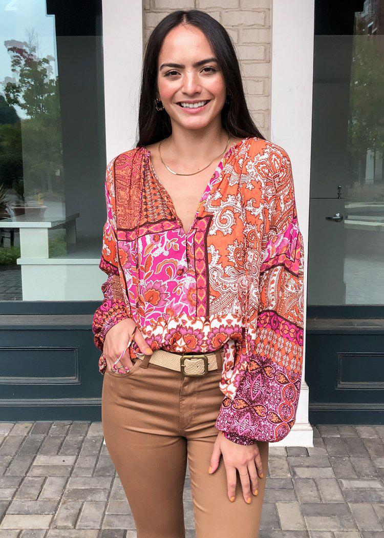 Cloverdale Peasant Blouse-Hand In Pocket