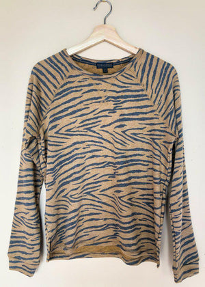 PJ Salvage Wild One Pullover- Tiger-Hand In Pocket