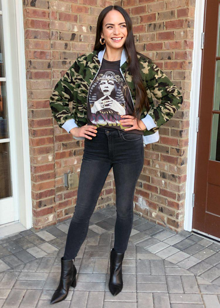 Chaser Teddy Camo Bomber Jacket ***FINAL SALE***-Hand In Pocket