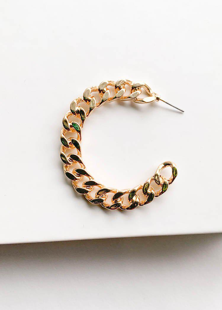 Bronte Chunky Chain Hoops - Gold-Hand In Pocket
