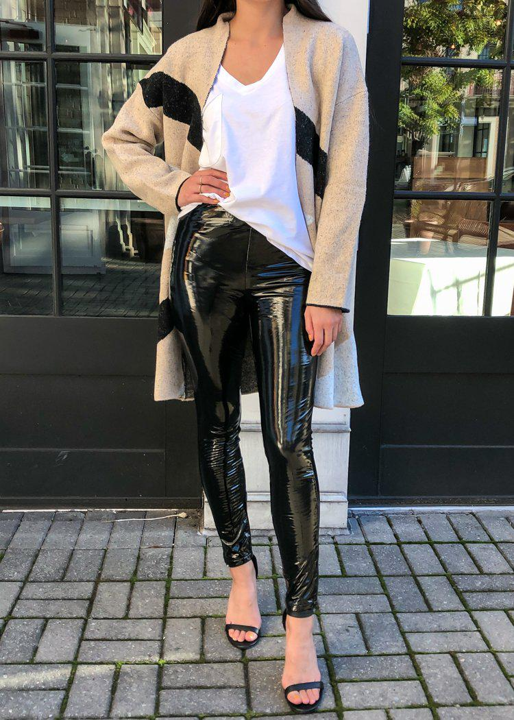 Blank NYC Glossy Faux Leather Leggings - Dance The Night Away-Hand In Pocket