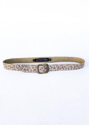 JJ Winters Kylie Belt - Gold Leopard-Hand In Pocket